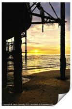 Sunset At The Pier, Print