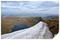 Red Tarn and Striding edge, Print