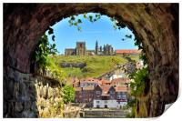 Whitby Abbey through The Arch, Print