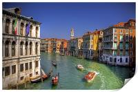 Light Traffic on the Grand Canal, Print