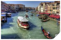 Traffic on the Grand Canal, Print