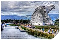 Kelpies and Canal, Print