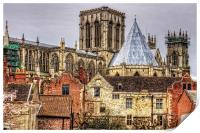 The Minster from the City Walls, Print