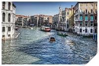 North from the Rialto Bridge, Print