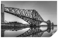 North Queensferry Reflections - B&W, Print