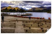 Wildfowl at Derwentwater, Print