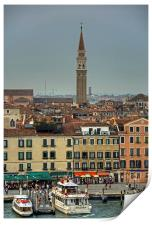 The busy waterfront, Print