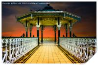 The Brighton Seafront Bandstand , Print
