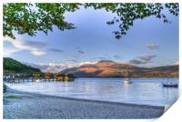 Loch Lomond at Luss From The Beach, Print
