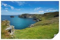 Barras Nose to Willapark Cornwall, Print