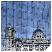 Old and new architecture Liverpool, Print