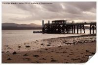 SAND SEA AND A PIER , Print