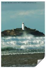 LIGHTHOUSE ROUGH SEA, Print