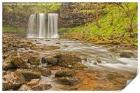 Waterfall Country, Wales., Print