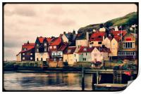 Retro Whitby Painting look, Print