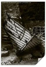 Old Fishing Boat Isle of Wight Canvases & Prints, Print