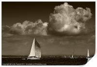 Cowes Yachting Canvases & Prints, Print