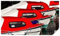 Red Boats, Lyme Regis Canvases & Prints, Print
