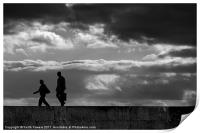 Evening stroll Silhouette Canvases & Prints, Print