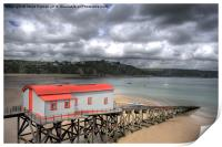 Old Lifeboat Station, Tenby, Print