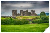 Caerphilly Castle East View 2, Print
