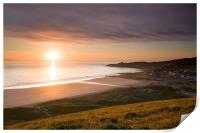 Sunset Woolacombe Beach, Print