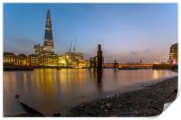 The Shard at Dusk, Print