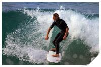Surfing a clean wave, Print