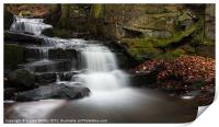Lumsdale Waterfall, Print