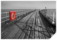 Along Whitby pier, Print