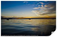 Sunset over Poole  Harbour, Print