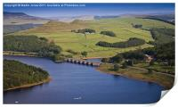 Ladybower and Ashopton Viaduct from Bamford Edge, Print