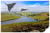 Vee Force over the Valley, Print