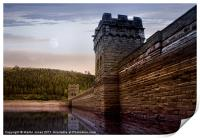 Sunset Behind the Mighty Dam, Print