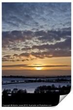 South Yorkshire Sunset, Print