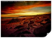 Boulder Beach at Berwick, Print