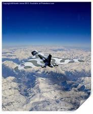 Vulcan over the Alps, Print