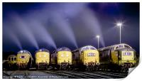 Deltic Smoke in the Night, Print