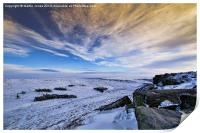 Winter comes to Higger Tor, Print