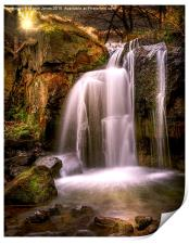 Evening over The Falls at Lumsdale, Print