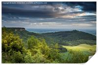 Roulston Scar from Sutton Bank, Print