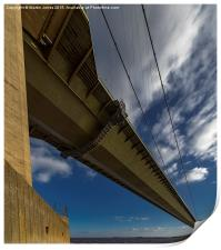 Floating above the Humber, Print