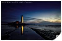 First light at St Marys Lighthouse, Print