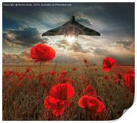 Olympus Thunder over the Poppies, Print