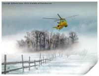 Sea King over the Anglesey Mists, Print