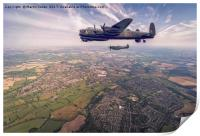 Lancaster and Spitfire of the BBMF, Print