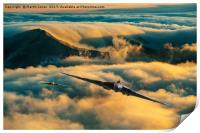 Vulcan Sortie over The Lake District, Print
