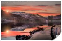 Winter over the Derwent Dam, Print