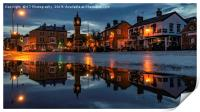 Thirsk Market Place after an Evening Downpour , Print