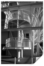 Pavilion Stairs at the Ageas Rose Bowl, Print
